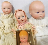 4 Bisque head baby dolls