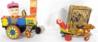 2 Japanese Tin Litho toys