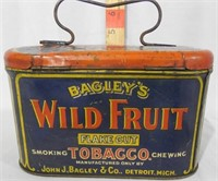 Bagleys Wild Fruit Tobacco Tin Litho