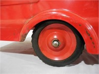 Marx Pressed Steel Riding Fire Truck
