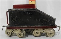 Early Lionel Standard  Gauge Tender marked NYC