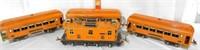 Lionel O Gauge #256 Orange Passenger Train