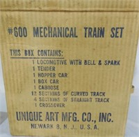 Unique Art Mfg Tin Train set
