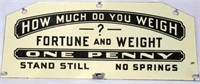 Penny Scale Porcelain Sign Topper