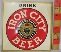 Iron City Beer counter display sign