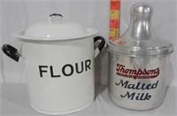 Thompsons Malted Milk Aluminum Container