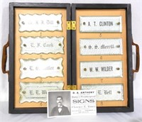 Salesman's Sample - Glass Signs