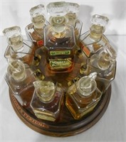 Riegers Perfumes Spinning Rack w 9 Bottles