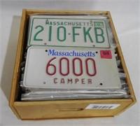 Lot of 80+ Massachusetts License Plates