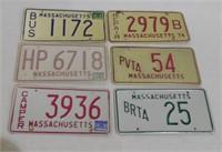 Lot of 60+ Massachusetts License Plates
