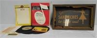 Sandwiches Sign, Wurlitzer items
