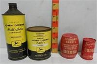 2 John Deere Cans, 2 Dodge Banks