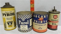 4 Auto Related Advertising Cans