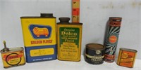 6 Auto Related Advertising Cans