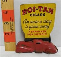 2-Sided Roi-Tan Cigars - 1939 Chevrolet