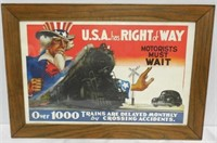 Framed Poster, USA has Right of Way