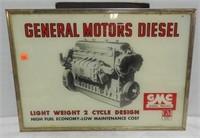 General Motors Diesel Glass Sign