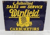 Winfield Carburetors Porcelain Sign