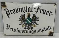 Porcelain German Sign