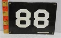 Number 99 B/W Porcelain Sign