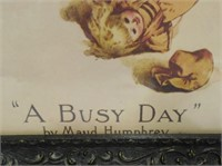 Ivory A Busy Day Framed Print