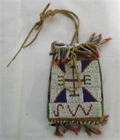 Small Beaded Bag & Beaded Ankle Cuffs