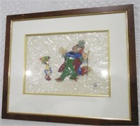Pinocchio & Foulfellow Hand Painted Film Cell