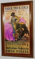 1964 Bullfighting Poster