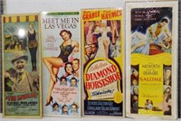 """Set of 4 Movie Posters, 14"""" wide x 36"""" high"""