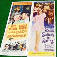 """Set of 2 Movie Posters, 14"""" wide x 36"""" high"""