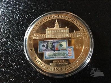 24 Kt Gold Filled Benjamin Franklin 100 Other Items For