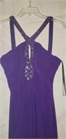 Ignite evenings by Carol lin purple dress size 14