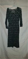 Peruvian connection knitted black dress