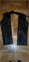Harley Davidson Size Large Leather Chaps
