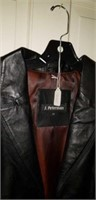 J. Peterman Leather Ladies Coat Medium