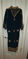 Stunning Hand Stitched long Evening Coat
