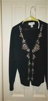 Bloomingdale's L sequined Cashmere Sweater