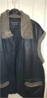 Henig Furs leather Oversized Vest Coat