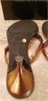 Donald J Pliner Psyche bronze metallic shoe