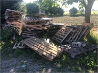 Large Lot of Wooden Pallets