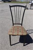 Amisco Black/Beige Side Chair