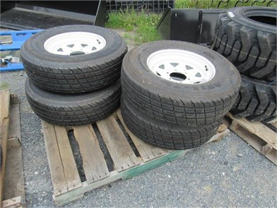 SET (NEW) ST225/75R15 RADIAL TRAILER TIRES/WHEELS Other