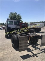 1988 FORD CF7000 CARGO W/ 15' FLATBED CHASSIS
