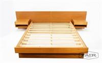 Danish Teak Platform Bed w/ Nightstands