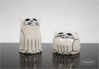Karen Donleavy Cat Salt and Pepper Shakers