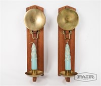 Pair of Laurids Lonberg Wall Sconces with Candles