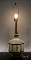 Pieri '63 Plaster, Tile and Wood Lamp