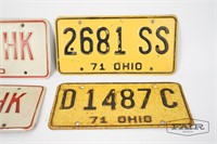 4 Vintage Ohio License Plates