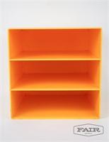 3 Slot Yellow Plastic Vinyl Storage Container