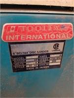 """Toolex International Belt & Disc Sander. 30"""" X"""